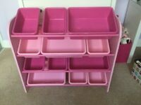 BEAUTIFUL PINK STORAGE UNIT IN EXCELLENT CONDITION