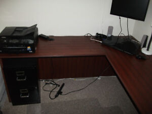 High End Cherry Wood L Shaped Desk---Perfect Condition