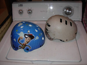 2 Small child's bike helmets