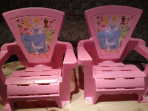 Almost brand new Disney Princess CHAIRs