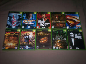 ORIGINAL XBOX GAMES FOR SALE-SHENMUE II-GODFATHER-STAR WARS