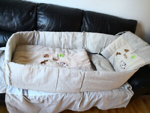 Bedding for Baby's Crib, very good condition, clean like new