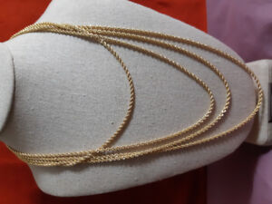 10kt gold rope chains