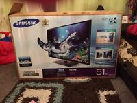 """Samsung 51"""" 3D TV with free 3D 2 Samsung glasses"""