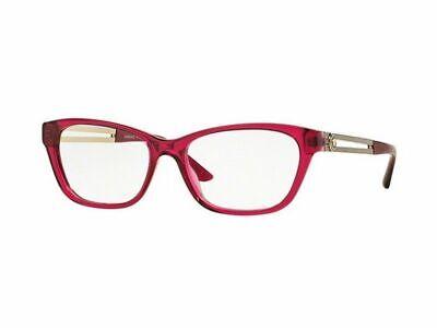 New Versace VE3220-5097 Cat Eye Women Red Crystal Frame Genuine (Real Versace Glasses)