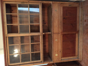 Antique Large Pine Hutch