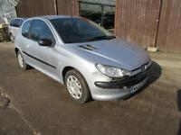 2004 PEUGEOT 206 1.1 8V S MANUAL PETROL 3 DOOR HATCHBACK