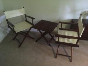 Chaises (2) et Table pliantes