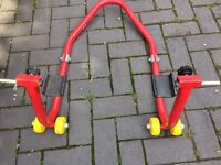 Motorcycle Paddock Stand - rear
