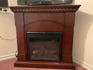 Corner Electric Fireplace and heater with fan