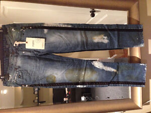 Energie Skinny Jeans Studs Oiled Paint W30 L34 (fits up to W31)