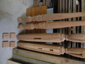 Hand Carved Cherry Rice Bed Legs - Some Wood Work Required Kitchener / Waterloo Kitchener Area image 2