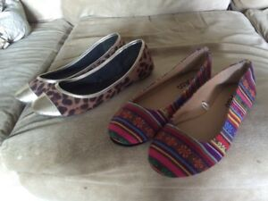 Size 8 Flats Like New Must Sell