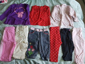 Girls 9m and 6-12m fall/winter clothes