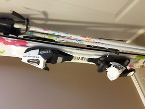 TechnoPro Sweetie downhill Skis with bindings, and poles
