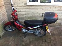 125 Moped, Semi Automatic, Low Mileage. Good condition