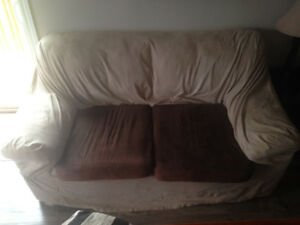 Matching loveseat and reclining chair