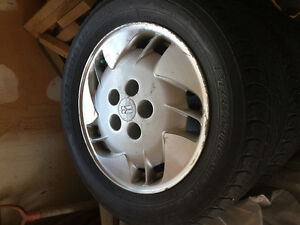 Two 215/60/R16 tires for sale
