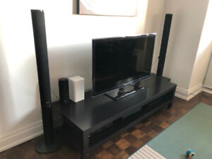 TV and Sound System Set