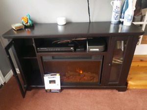 New Electric Fireplace with storage
