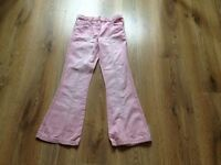 Next dusky pink jeans age 8-9 9 yrs old girls clothes clothing