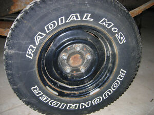 235/75/15 Set of  4 tires on stock rims from 1995 F150 - 5x 5.5""