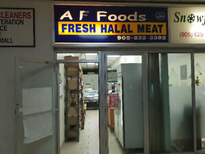HALAL MEAT SHOP FOR SALE