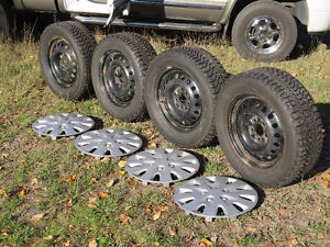 Firestone Winterforce Studded Winter Tires and Rims 225/60R17