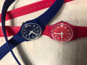 Swatch watches for women. Barely used