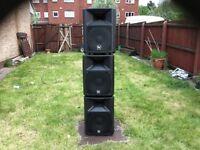 Very good condition ev SX speakers 300 watt each