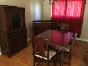 Dining Table Set with Hutch and Buffet