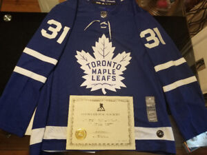 Frederik Andersen Signed TML Jersey with COA