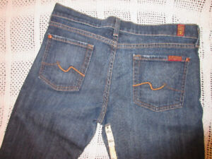 7 For All Mankind Bootcut dark blue jeans Size 30 x 34