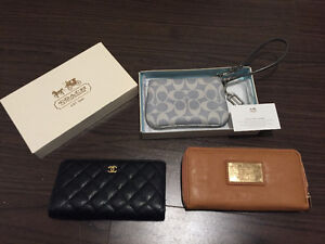 Designer wallets for sale coach Marc and channel