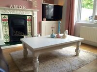 Shabby Chic Coffee Table hand painted in Farrow and Ball