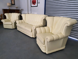 Original Chesterfield sofa and two armchairs + free delivery