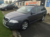57 SKODA OCTAVIA SCOUT 2.0 TDI 87000 MILES FSH 10 STAMPS VERY CLEAN EXAMPLE