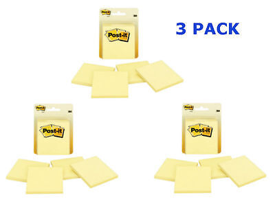 Post-it Notes 3 X 3-inches Canary Yellow 3 Packs Of 4-padspack-12 Pads Total