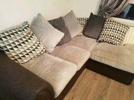 Small corner sofa with chair.