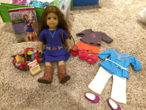 American Girl Saige, her accessories, outfits (retired 2013)