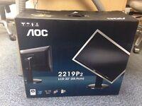 "AOC 22"" adjustable monitor"