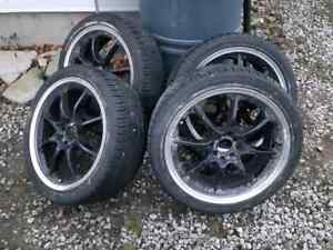 """4x100 4x114 18"""" ADR rims with new tires"""