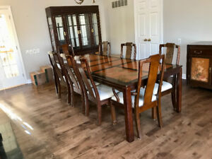 Dining room set,10 chairs, china cabinet, buffet and table