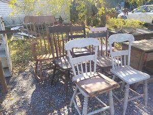 Vintage/antique wood chairs Peterborough Peterborough Area image 2