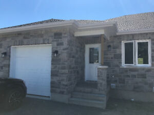 BRAND NEW 2 Bedroom Semi. With WALKOUT basement to backyard.
