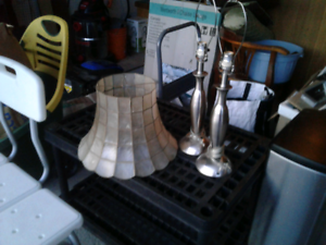 2 lamps with a plastic shade