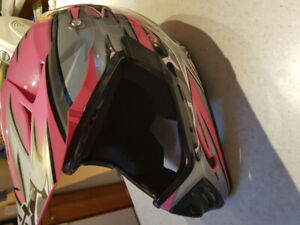 Child size medium motorcross style helmet