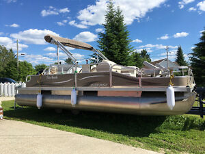 Pontoon, motor, and trailer for sale