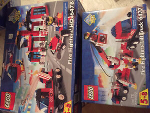 Lego fire station and fire truck