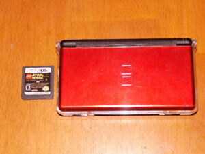Nintendo DS Lite Crimson with Case